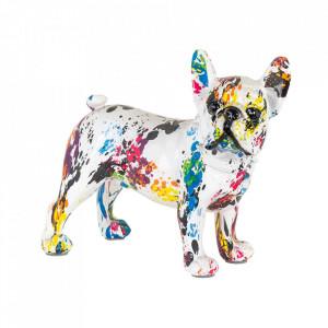 Decoratiune multicolora din polirasina 19 cm Dog Graffity Richmond Interiors