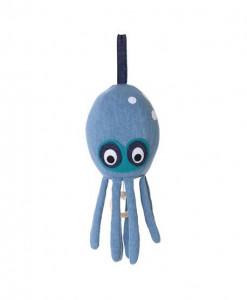 Decoratiune muzicala suspendabila din bumbac Octopus Denim Ferm Living