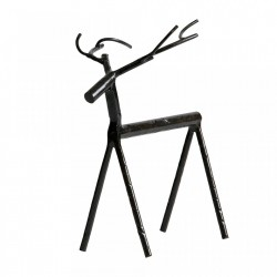 Decoratiune neagra din fier 19 cm Deer L Be Pure Home