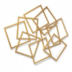 Decoratiune perete din metal auriu 113x94 cm Menta La Forma