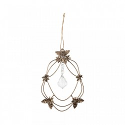 Decoratiune suspendabila maro alama din metal Dangle Diamond Be Pure Home
