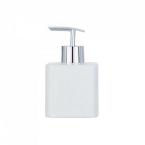 Dispenser alb/argintiu din ceramica si plastic 290 ml Hexa Soap Wenko