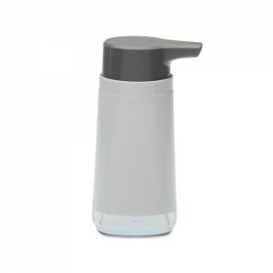 Dispenser sapun lichid alb/gri din plastic 8x15 cm Sezni Versa Home