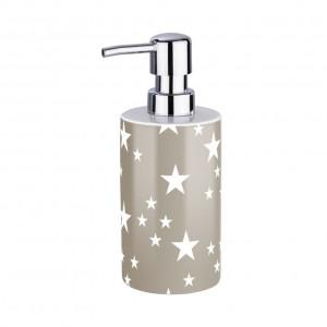 Dispenser sapun lichid grej/alb din ceramica 360 ml Stella Wenko