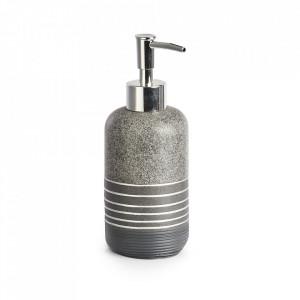 Dispenser sapun lichid gri din polirasina 280 ml Shine Zeller