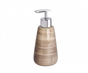 Dispenser sapun lichid maro din ceramica 360 ml Pottery Wenko