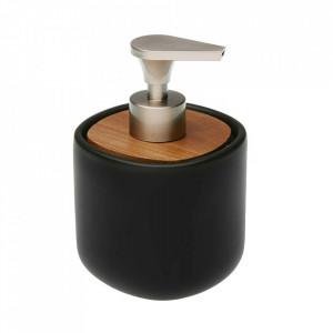 Dispenser sapun lichid negru din ceramica 9,5x14 cm Clarise Versa Home