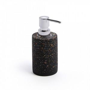 Dispenser sapun lichid negru din terrazzo 7x16,5 cm Rocko La Forma