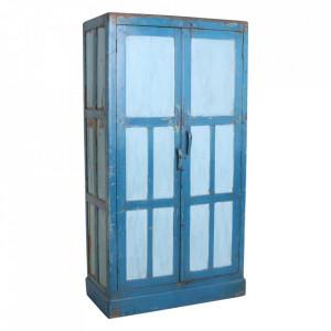 Dulap albastru din lemn de tec 200 cm Banhour Raw Materials