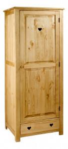 Dulap maro din lemn 190 cm Couleurs des Alpes Rustique Zago