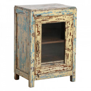 Dulapior multicolor din lemn Corinne Raw Materials