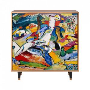 Dulapior multicolor din MDF si lemn Improvisation 26 By Wassily Kandinsky Lara Furny