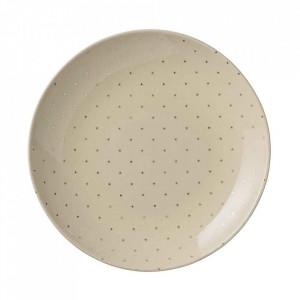 Farfurie alba din ceramica 25 cm Fanna Bloomingville
