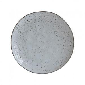 Farfurie pentru desert gri/albastra din ceramica 20 cm Rustic House Doctor