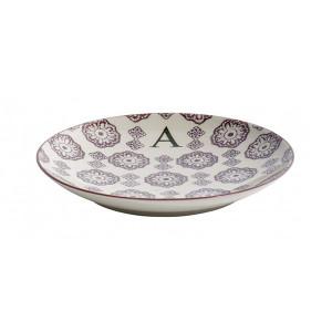 Farfurie pentru desert multicolora din ceramica 20 cm A Letter Nordal