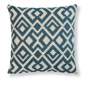 Fata de perna alb/albastra din textil 45x45 cm Malani La Forma