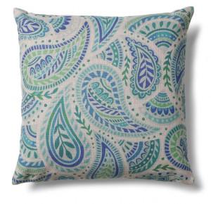 Fata de perna albastra/verde din poliester si bumbac 45x45 cm Shade Swirl La Forma