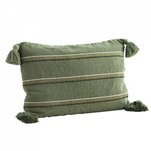 Fata de perna verde din bumbac si viscoza 40x60 cm Jecu Madam Stoltz