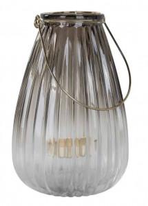 Felinar din fier si sticla 22 cm Lynn Richmond Interiors