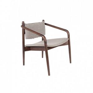 Fotoliu din lemn si textil Torrance Dutchbone
