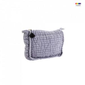 Geanta mov/gri din in 17x21 cm pentru cosmetice Lavender Toilet Bag Madam Stoltz