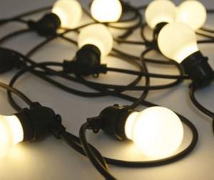 Ghirlanda luminoasa neagra cu 10 becuri LED 14,2 m Bellavista Black Seletti