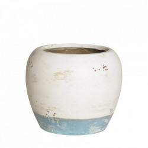 Ghiveci alb/albastru din ceramica 21,5 cm Beart Ixia