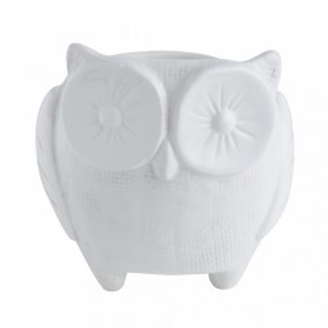 Ghiveci alb din dolomita 12 cm Owl Bloomingville