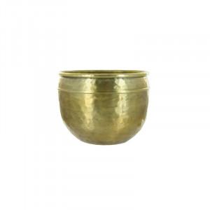 Ghiveci auriu din aluminiu 15 cm Euthymia Lifestyle Home Collection