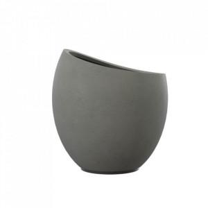 Ghiveci gri din beton 26 cm Cache Zago