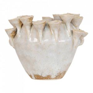 Ghiveci gri din ceramica 13x16 cm Aliano House Nordic