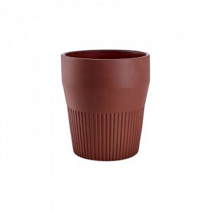 Ghiveci maro din ceramica 32 cm Thea Large Bolia