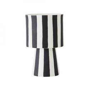Ghiveci negru/alb din ceramica 10 cm Toppu Oyoy