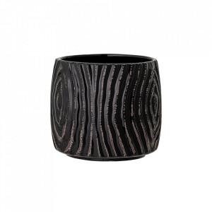 Ghiveci negru din ceramica 13 cm Atena Bloomingville