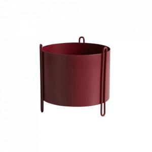 Ghiveci rosu din metal 15 cm Pidestall Woud