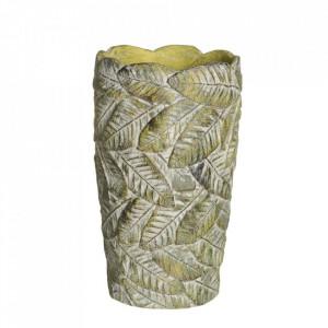Ghiveci verde din ciment 15,5 cm Usakos Ixia