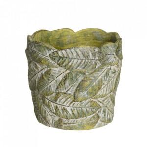 Ghiveci verde din ciment 16,5 cm Usakos Ixia