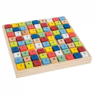 Joc sudoku multicolor din lemn Logic Small Foot