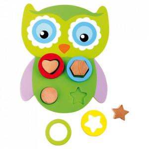 Jucarie de potrivire a formelor din lemn Owl Small Foot