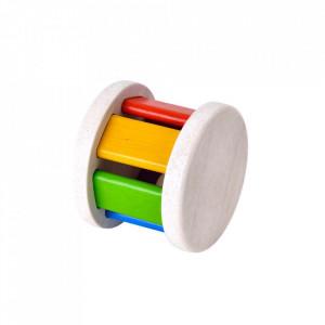 Jucarie multicolora din lemn Roller Plan Toys