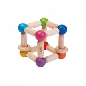 Jucarie multicolora din lemn Square Clutching Plan Toys