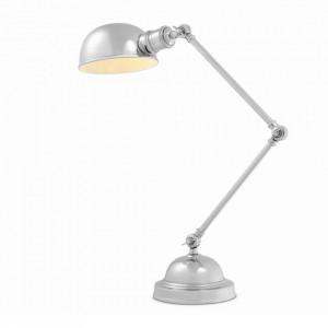 Lampa birou argintie din aluminiu si inox 60 cm Soho Eichholtz