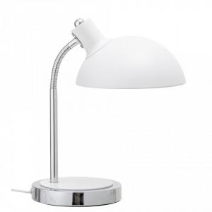 Lampa birou de masa alba din metal 23x40 cm Bloomingville