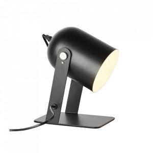Lampa birou neagra din metal 29 cm Yan Brilliant