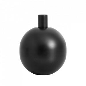 Lampa cu ulei neagra din inox si sticla pentru exterior 18 cm Garden Torch Medium Nordal