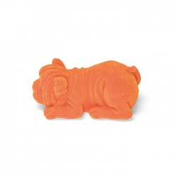 Lampa de veghe portocalie din rasina Devilisch Bulldog Light Orange Bold Monkey