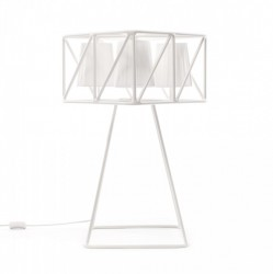 Lampa metalica alba 35x35cm Multilamp Table Seletti