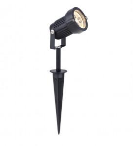 Lampa neagra din aluminiu cu 3 LED-uri 38 cm pentru gradina Tradgard Markslojd