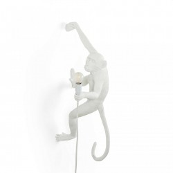 Lampa perete alba 37×20,5cm The Monkey Right Outdoor Version Seletti
