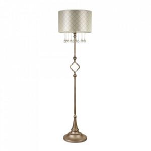 Lampadar argintiu/bej din metal si bumbac 165 cm Bience Maytoni